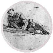 Civil War: Soldier Round Beach Towel