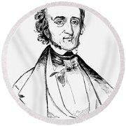 Edgar Allan Poe (1809-1849) Round Beach Towel