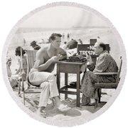 Film Still: Beach Round Beach Towel