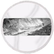 Great Railroad Strike, 1877 Round Beach Towel