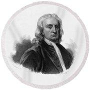 Isaac Newton, English Polymath Round Beach Towel by Science Source