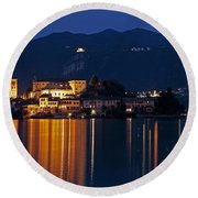 Island Of San Giulio Round Beach Towel by Joana Kruse