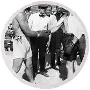 Jack Dempsey (1895-1983) Round Beach Towel