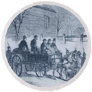 John Brown, American Abolitionist Round Beach Towel by Photo Researchers