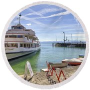 Lake Constance Meersburg Round Beach Towel