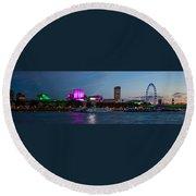 London Skyline Sunset Round Beach Towel