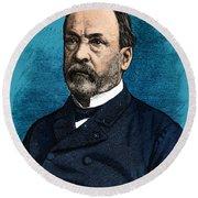 Louis Pasteur, French Chemist Round Beach Towel