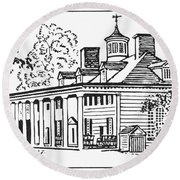 Mount Vernon Round Beach Towel