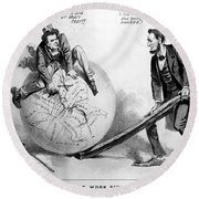 Presidential Campaign: 1864 Round Beach Towel