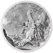 Quebec Expedition, 1775 Round Beach Towel