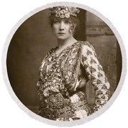 Sarah Bernhardt (1844-1923) Round Beach Towel