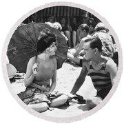Silent Still: Beach Round Beach Towel