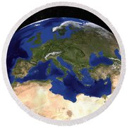 The Blue Marble Next Generation Earth Round Beach Towel