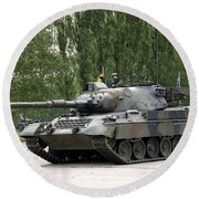 The Leopard 1a5 Of The Belgian Army Round Beach Towel