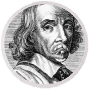 William Harvey, English Physician Round Beach Towel by Science Source