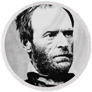 William Tecumseh Sherman Round Beach Towel