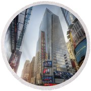 7th Street Nyc  Round Beach Towel