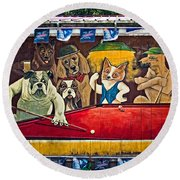 8 Ball And Beer Round Beach Towel
