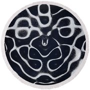 Chladni Oscillations On Metal Plate Round Beach Towel