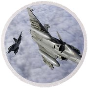 Dassault Rafale B Of The French Air Round Beach Towel