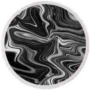 Digital Art Abstract Round Beach Towel