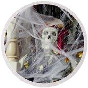 Fall  Halloween On Tillson Street Round Beach Towel