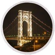 George Washington Bridge Round Beach Towel