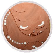 Mama - Tile Round Beach Towel by Gloria Ssali