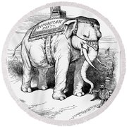 Presidential Campaign, 1884 Round Beach Towel