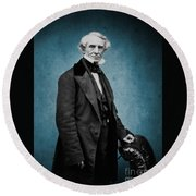 Samuel Morse, American Inventor Round Beach Towel by Science Source