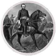Ulysses S Grant 18th American Round Beach Towel