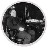 William Howard Taft Round Beach Towel
