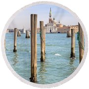 Venezia Round Beach Towel by Joana Kruse