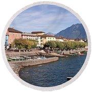 Ascona - Ticino Round Beach Towel
