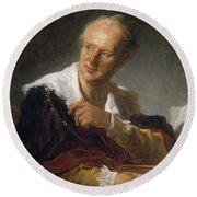 Denis Diderot (1713-1784) Round Beach Towel
