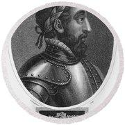 Henry II (1519-1559) Round Beach Towel