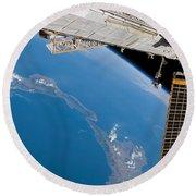 International Space Station Round Beach Towel