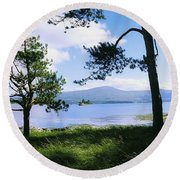 Kenmare Bay, Dunkerron Islands, Co Round Beach Towel