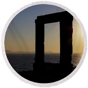 Naxos - Cyclades - Greece Round Beach Towel