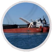 Presque Isle Ship Round Beach Towel