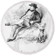 Washington Irving Round Beach Towel
