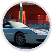 911 Porsche 996 2 Round Beach Towel