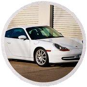 911 Porsche 996 6 Round Beach Towel