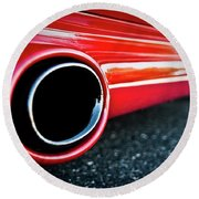 94 Vette Side Pipes Round Beach Towel