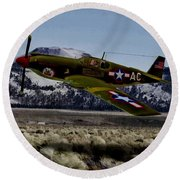 A-36 Apache Recon Round Beach Towel