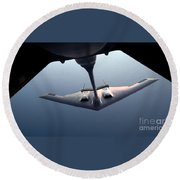 A B-2 Spirit Bomber Conducts Round Beach Towel