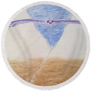 A Balanced View Round Beach Towel