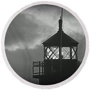 A Beacon In The Night Round Beach Towel