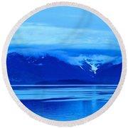 A Blue Slice Of Alaska Coast Round Beach Towel