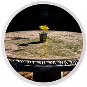 A Bright Spot Round Beach Towel